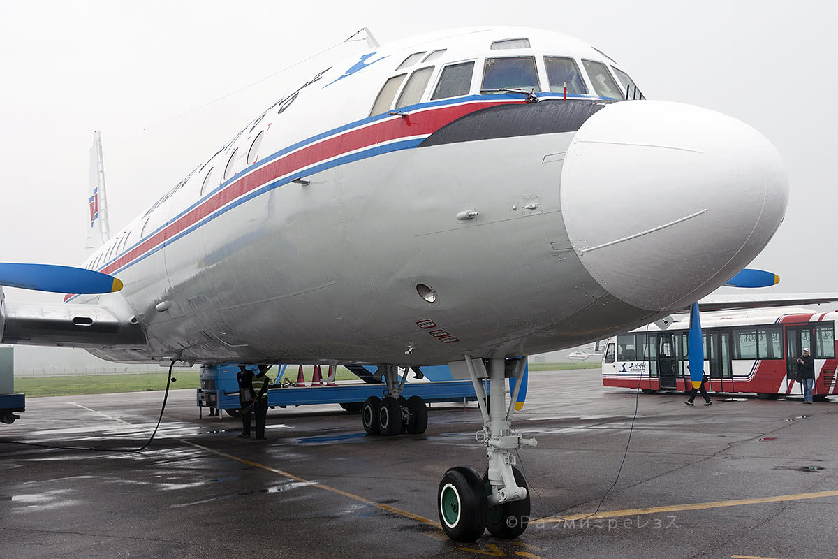 P-835.  Air Koryo's Ilyushin Il-18, my ride to Samjiyon.